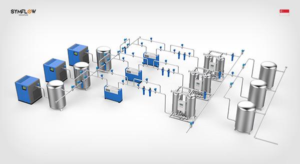 卡狮空压机站房管路系统解决方案
