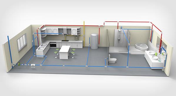 家装管路系统解决方案渲染图