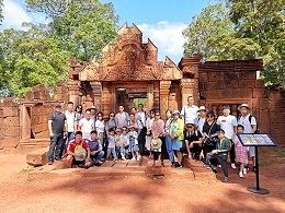 柬埔寨合影